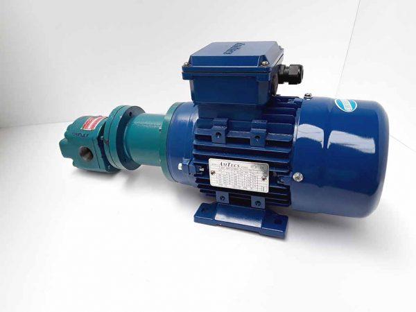 Motor and pump unit